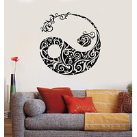 Vinyl Wall Decal Yin Yang Asian Pattren Oriental Decor Stickers Unique Gift (540ig)