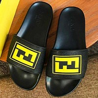 Fendi Fashion New Letter Slippers Flip Flop Shoes Men-1