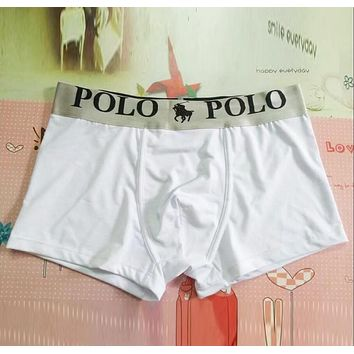 POLO Popular Men Print Modal Underwear(6-Color) White