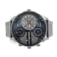 Black Finish Watch Stainless Steel Back Water Resistant