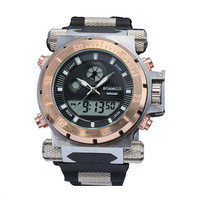 Men's Dual Time Hour Waterproof Watch