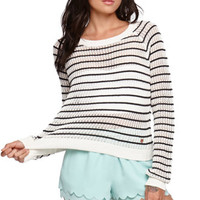 Kendall & Kylie Striped Cropped Pullover Sweater at PacSun.com