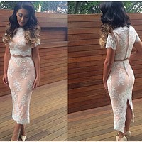 Two-Piece Lace Dress [KL0114BC]