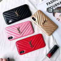 YSL tide brand female wallet models drop iPhonexs max mobile phone case cover