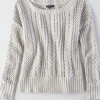 AEO Women's Cable Knit Sweater
