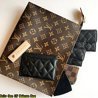 LV Hot Selling Fashion Business Documents Handbag Briefcase for Men and Women LV pattern coffee
