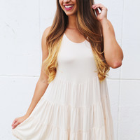 Walking On Sunshine Tiered Dress