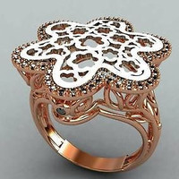 AMAZING ANTIQUE GOOD LOOKING 925 STERLING SILVER ENGAGEMENT AND WEDDING RING
