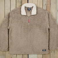 Southern Marsh Appalachian Pile Pullover- Light Brown with Oatmeal