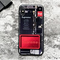 Off White & Supreme New fashion letter print protective cover phone case
