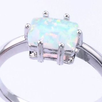 Opal Squared Ring