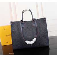 LV Louis Vuitton MONOGRAM Empreinte LEATHER ONTHEGO HANDBAG TOTE BAG