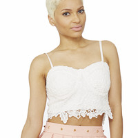 SWEET RENDEZVOUS LACE BUSTIER - IVORY