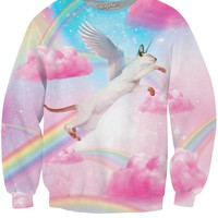 Fly High Kitty Crewneck Sweatshirt