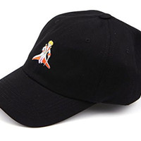 The Little Prince Baseball Cap Pre Curved Hat Muan Company Cap30 (1. Black)