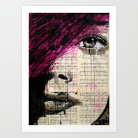violets song Art Print by LouiJoverArt