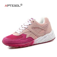 APTESOL Air Mesh Running Shoes For Women Outdoor Sport Sneakers Jogging Shoes Breathable Lightweight Soft Athletic Walking Shoes