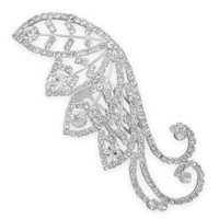 Crystal Leaves Design Fashion Hair Comb