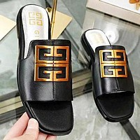 Givenchy New Fashion Leather Shoes Flip Flop Slippers Shoes