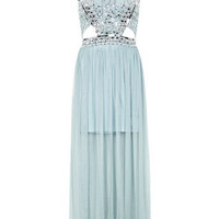 Sequin Stud Maxi Dress