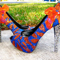 Florida Gators Glitter Heels by RippedClothing on Etsy