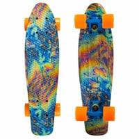 Graphic Penny Style Cruiser Board 22 inch Abstract Plastic Fish Skateboard