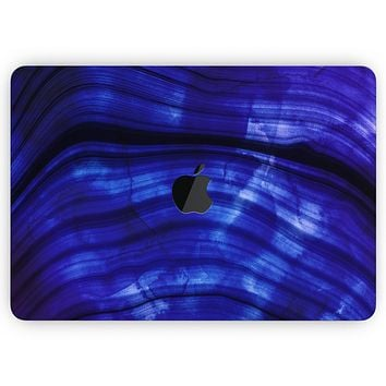 """Vivid Agate Vein Slice Blue V11 - Skin Decal Wrap Kit Compatible with the Apple MacBook Pro, Pro with Touch Bar or Air (11"""", 12"""", 13"""", 15"""" & 16"""" - All Versions Available)"""