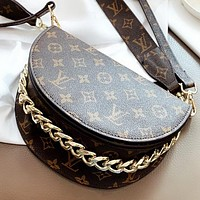 LV Fashion New Monogram Print Leather Shoulder Bag Crossbody Bag Handbag