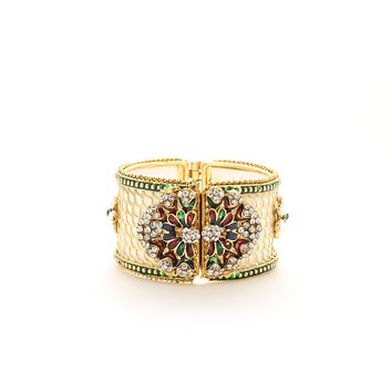 Ethnic Openable white Plated  Bracelet with polki Gift For Woman