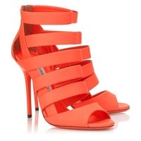 Neon Flame Nappa Leather Sandals | Damsen | Spring Summer 2014 | JIMMY CHOO Sandals