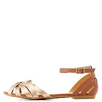 BAMBOO ANKLE STRAP HUARACHE SANDALS
