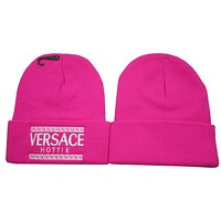 Perfect Vesace Women Men Embroidery Beanies Winter Knit Hat Cap