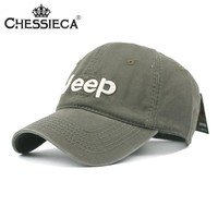 CHESSIECA Canvas Baseball Cap Cool Jeep Letter Snapback Caps Sunscreen 2017 Fashion Men Women Flat Hat Adjustable Bone Gorras