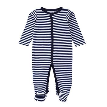 born Rompers Baby Boy Clothes Long Sleeve Cotton Body Baby Girl Clothes Black Stripped Autumn Baby Romper Clothing