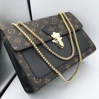 LV Louis Vuitton New fashion monogram check leather shoulder bag women