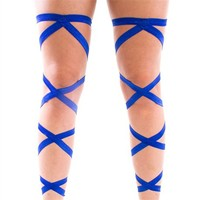 Pair of RaveReady Blue Leg Wraps : Rave Fluffies Wraps