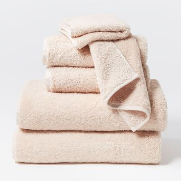 Cloud Loom Blush Organic Bath Towels by Coyuchi