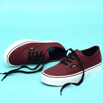 """""""Vans"""" Casual Classic Shoes Retro  low tops Shoes Wine red"""