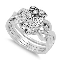 925 Sterling Silver Wisdom Owl Ring 11MM