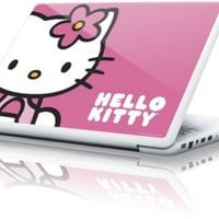 Hello Kitty MacBook 13-inch Skin - Hello Kitty Sitting Pink Vinyl Decal Skin For Your MacBook 13-inch