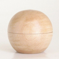 Handcrafted Sphere Box Turned in Figured Maple with Magnetic Lid