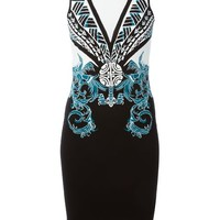 Versace Collection Intarsia Knit Patterned Dress - North Of The 42nd - Farfetch.com