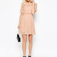 ASOS Lace Mini Prom Dress at asos.com