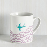 Critters Earth the Wait Mug in Bird by ModCloth