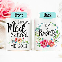 Doctor Mug, Doctor Graduation, Doctor Grad Gift, Medical School Graduation Gift, Doctor Graduation Gift, Grad from Med School College