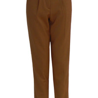 Mahsa High Waisted Chino Trousers in Camel