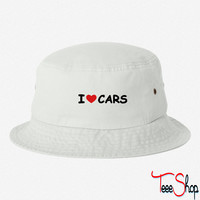 I Love Cars bucket hat
