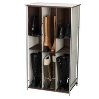 Household Essentials Boot Organizer with Adjustable Pockets, Natural