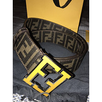 Fendi College Brown Belt Mens 115