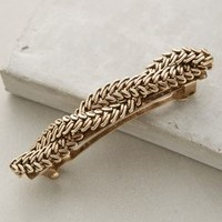 Les Cerises de Mars Iris Twist Barrette in Gold Size: One Size Hair
